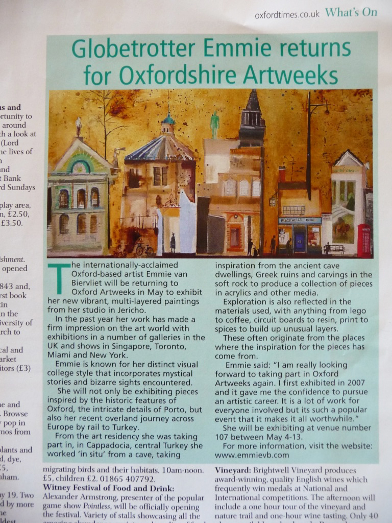Featured in The Oxford Times